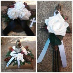 Fehér rózsás 3 db-os csomag