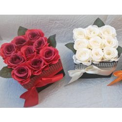 Csillogó rózsadoboz szett (2 db)