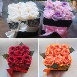 Elegáns rózsabox, 4 színben! (db ár)