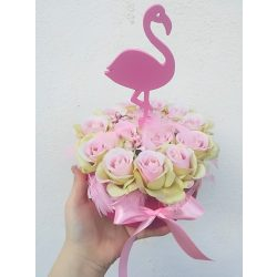 Flamingó rózsabox, utolsó darab!