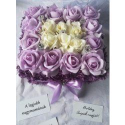 Purple Dream 18 szálas rózsabox, limitált kiadás!