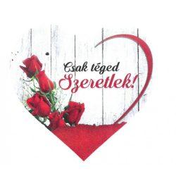 Fa szív tábla Rózsa