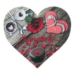 Fa szív tábla Szeretlek