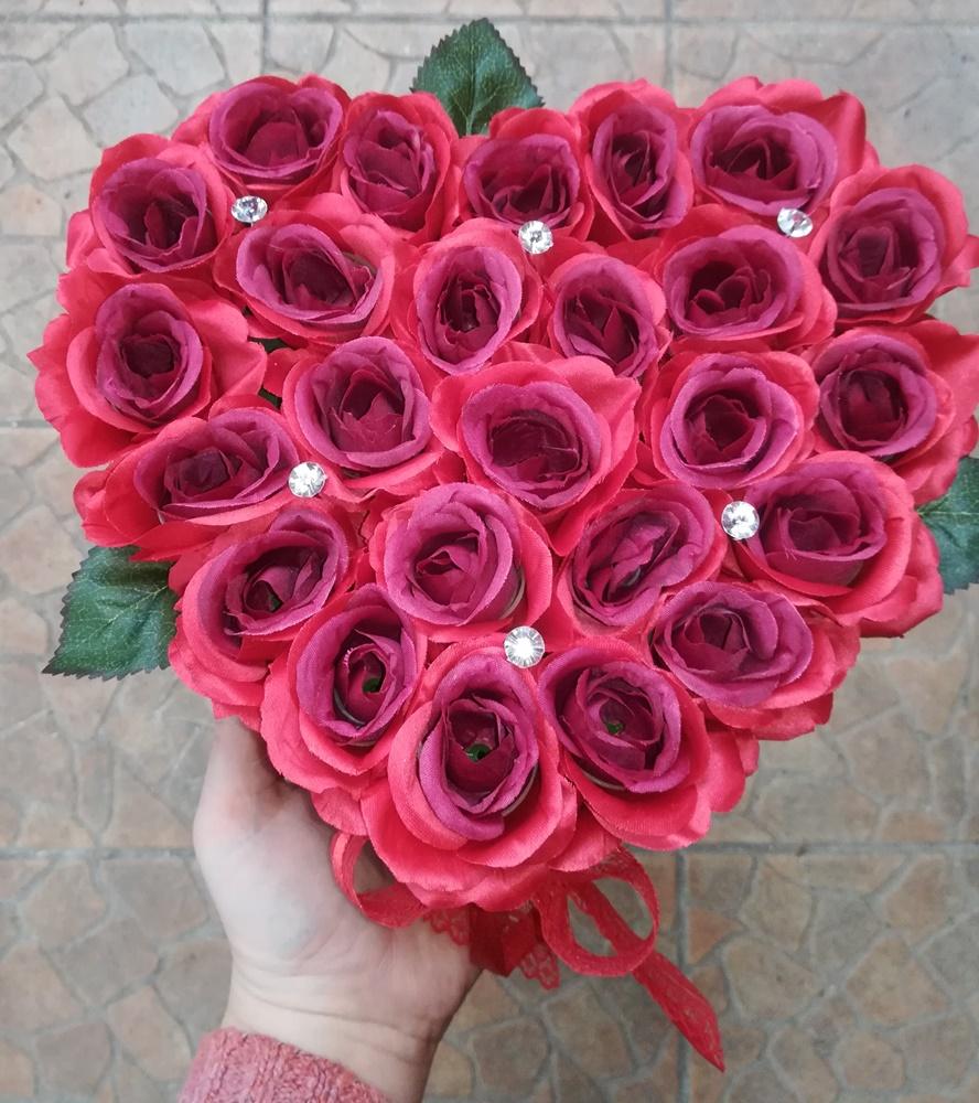 25 szálas rózsabox szülinapra